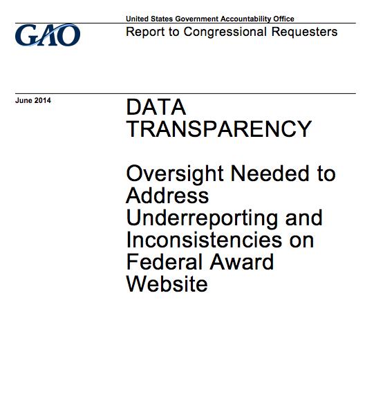 GAO Data Transparency