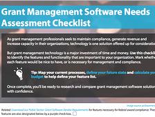 grant management needs assessment