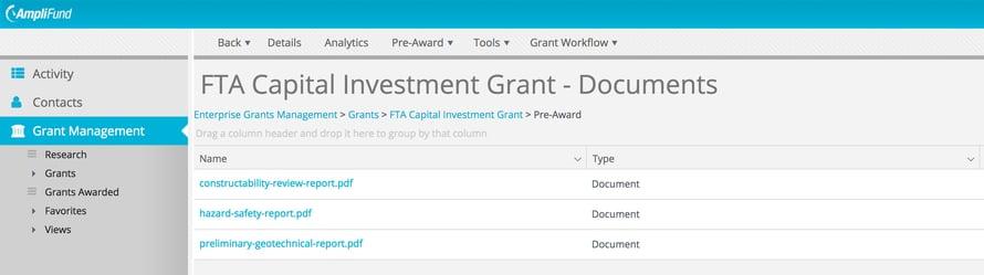 FTA Capital Investment Grant Pre-Award Documents