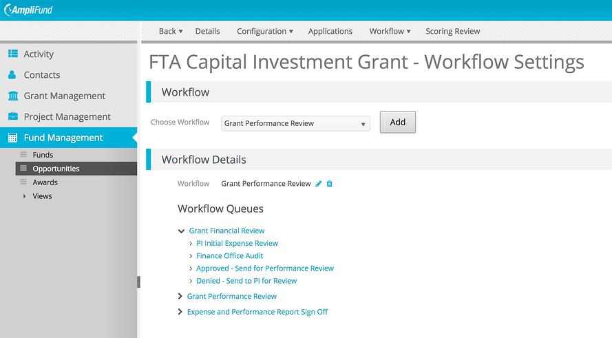 FTA Capital Investment Grant Workflow